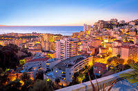 Monaco and Monte Carlo cityscape sunset view