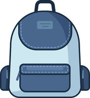 Backpack icon. Vector school symbol. Travel icon.