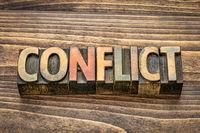 conflict word in wood type