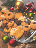 Tasty homemade cookies with Christmas decoration