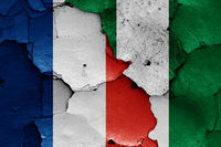 flags of France and Nigeria
