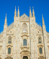 Milan Cathedral close-up. Italy