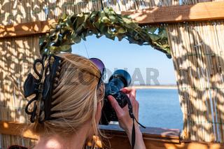 Naturfotografie fotograieren aus dem Beobachtungsstand
