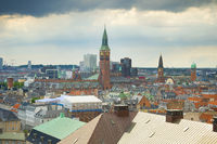 Skyline of Copenhagen Denmark