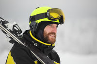 Portrait of a happy male skier