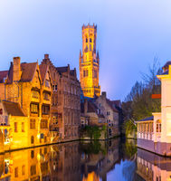 Bruges, Belgium sunset