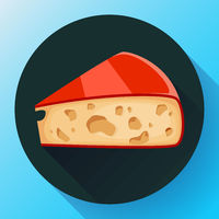 Piece of cheese icon cheese vector illustration.