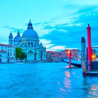The Grand Canal and Santa Maria della Salute church in Venice