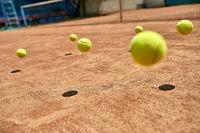 Jumping tennis balls