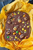 Gruselige Schokolade fuer Halloween