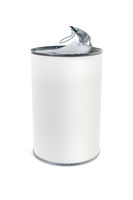 open white tin can