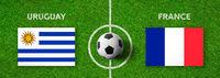 Football match Uruguay vs. France