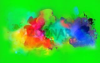 aquarell farben textur verlauf bunt grün