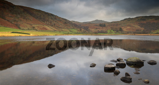Tranquil lake scene, Watendlath Tarn