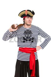 Portrait of handsome pirate