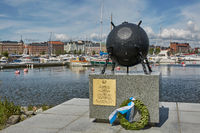 Deminer memorial at the shore of Katajanokka in Helsinki, Finland. There were 60,000 mines around Finland.