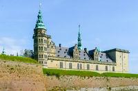 Kronborg castle exterior view Copenaghen Denmark