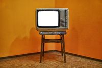 Old TV blank screen