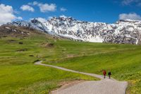 Hikers on the Alpe di Siusi