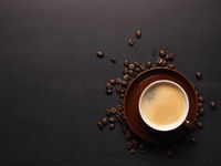 Espresso on a dark background
