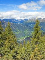 Blick von den Sarntaler Alpen in das Passeiertal, Südtirol