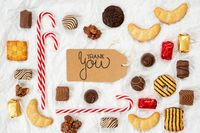 Candy Christmas Collection, Label, Calligraphy Thank You