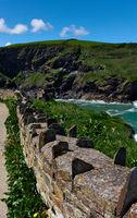historische Mauer - I - Tintagel - Cornwall - UK