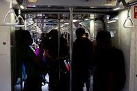 Passengers Singapore people solhouette metro