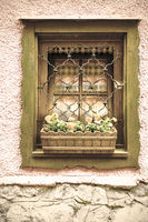 Typical window in Austria.