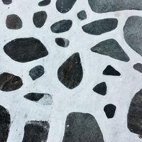 Pattern of pavement in Mykonos