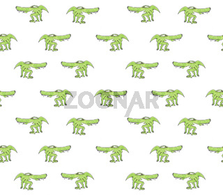 Alien Monster Reptile Drawing Pattern