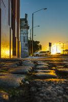 Sunset Scene Ciudad Vieja District, Montevideo, Uruguay