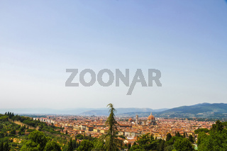 Landscape view of Florence on a sunny day