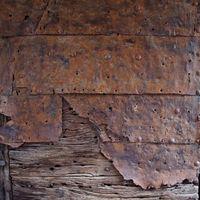 Oberfläche eines Holztores - Noli - Ligurien