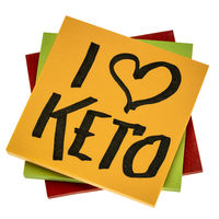 I love keto - diet and lifestyle concept