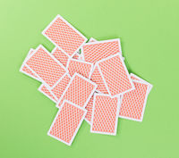 Spread out, face down cards isolated