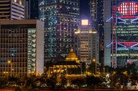 Hong Kong downtown sunset twilight
