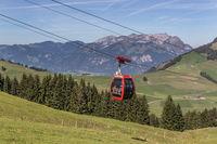 Luftseilbahn Gummenalp, Nidwalden, Schweiz, Europa