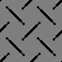 Wooden Rolling Pins Seamless Pattern