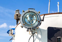 Signal light on the passenger ship
