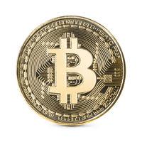 Bitcoin on white backgound