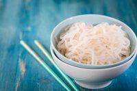 Bowl of shirataki noodles - Japanese food