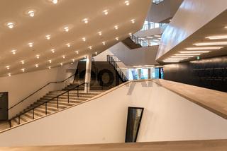 Lobby des großen Musiksaal in der Elbphilharmonie
