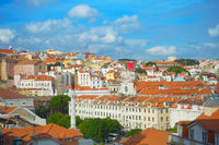 Skyline Lisbon Old Town  Rossio