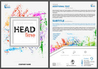 Abstract Flyer Template with Colorful Splatters