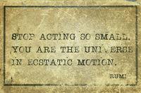act so small Rumi