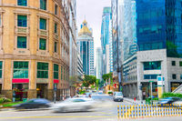 Street of Singapore business downtown