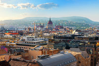 Hungarian Parliament and roofs
