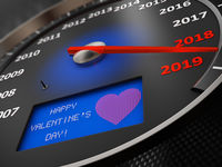 Speedometer Happy Valentine's Day