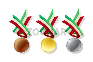 Hungarian vector medals set